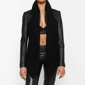 💕Line Leather Lamb Jacket 💕